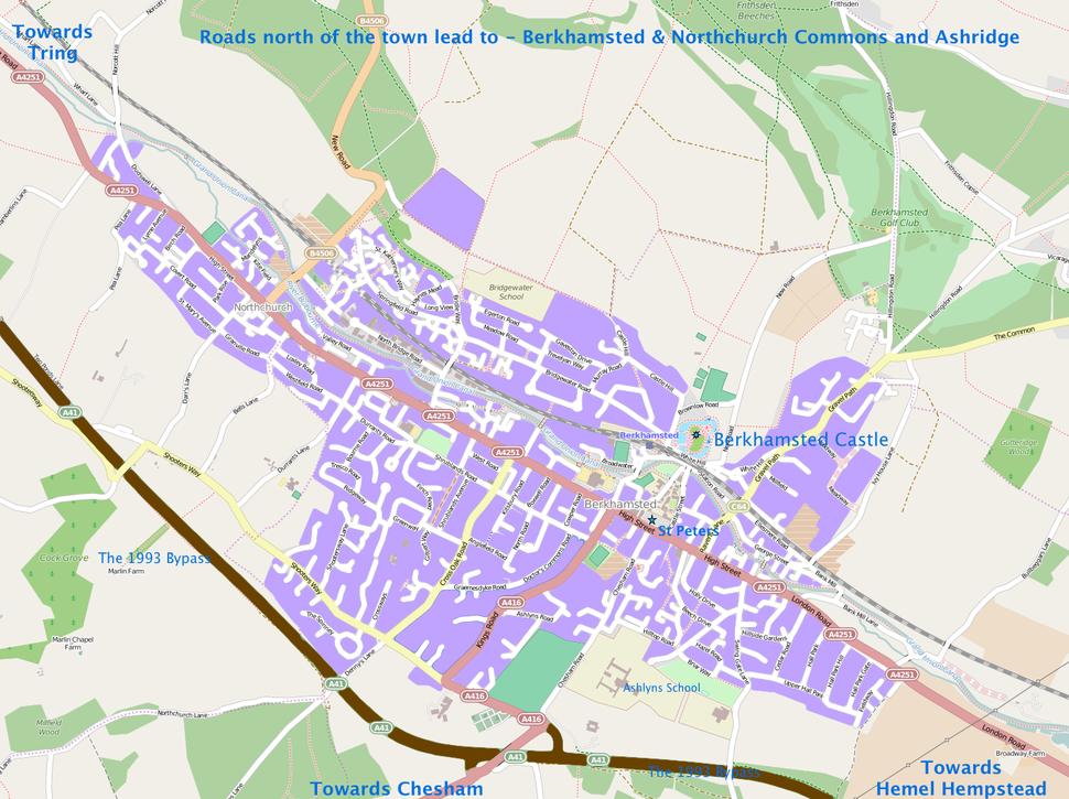 Map of Berkhamsted 2014