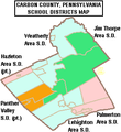 Map of Carbon County Pennsylvania School Districts.png