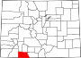 Map of Colorado highlighting Archuleta County.svg