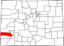 Map of Colorado highlighting San Miguel County.svg