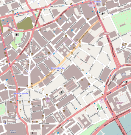 OpenStreetMap of the area Map of Covent Garden.png