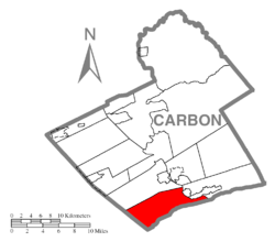 Location of East Penn Township in Carbon County