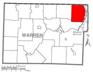 Elk Township, Warren County, Pennsylvania - Image: Map of Elk Township, Warren County, Pennsylvania Highlighted