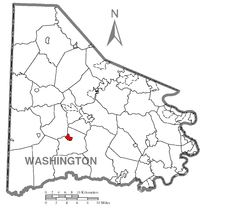 Map of Green Hills, Washington County, Pennsylvania Highlighted.png