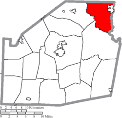 Location of Madison Township in Highland County