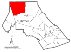 Map of Leidy Township, Clinton County, Pennsylvania Highlighted.png