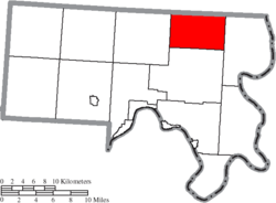 Location of Orange Township in Meigs County