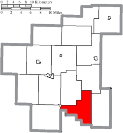 Location of Jefferson Township in Noble County