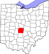 State map highlighting Franklin County