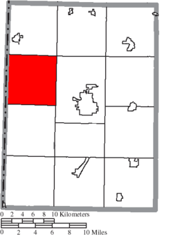 Location of Jackson Township in Preble County