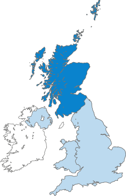 Map of Scotland within the United Kingdom.svg