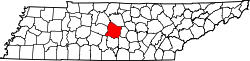 Map of Tennessee highlighting Rutherford County.svg