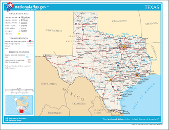 Outline of Texas - An enlargeable map of the State of Texas