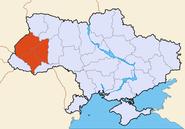 Map of Ukraine political Galicia