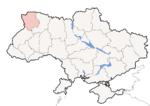 Oblast di Volinia - Mappa di localizzazione