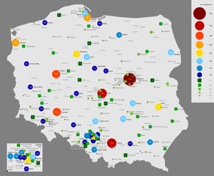 Demographics of Poland - Image: Mapa 1120