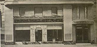 """Noucentisme - """"Aplicaciones del Gas"""" store in Barcelona by Santiago Marco (1930)"""