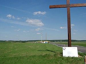 "Marienfeld - Marienfeld with ""Pope hill"", July 2005."
