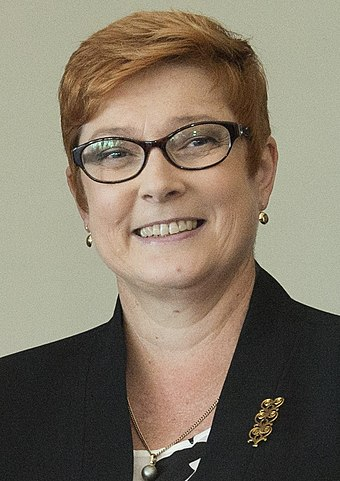 Marise Payne, Australia's Minister for Foreign Affairs, oversees matters pertaining to Australia's foreign diplomacy. Marise Payne October 2015.jpg