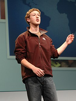 Mark Zuckerberg på Facebooks allra första F8, som hölls den 24 maj 2007, på San Francisco Design Center i San Francisco