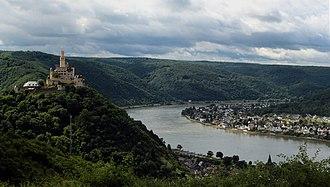 Marksburg - Marksburg and the Rhine