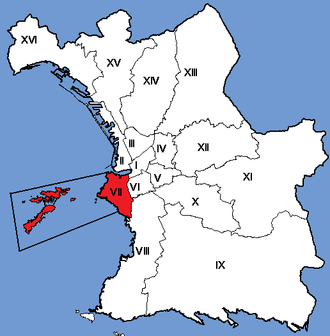 7th arrondissement of Marseille - Image: Marseille Arrondissements 07