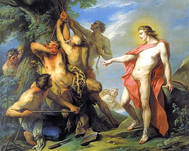 Marsyas Flayed by the Order of Apollo - Charles André van Loo (1735)