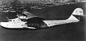 China Clipper flight departure site - Martin model 130 China Clipper class flying boat.