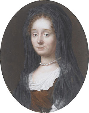 John Eyre (settler) - Mary Eyre, née Bigoe (attributed to William Gibson (British, circa 1644-1702))