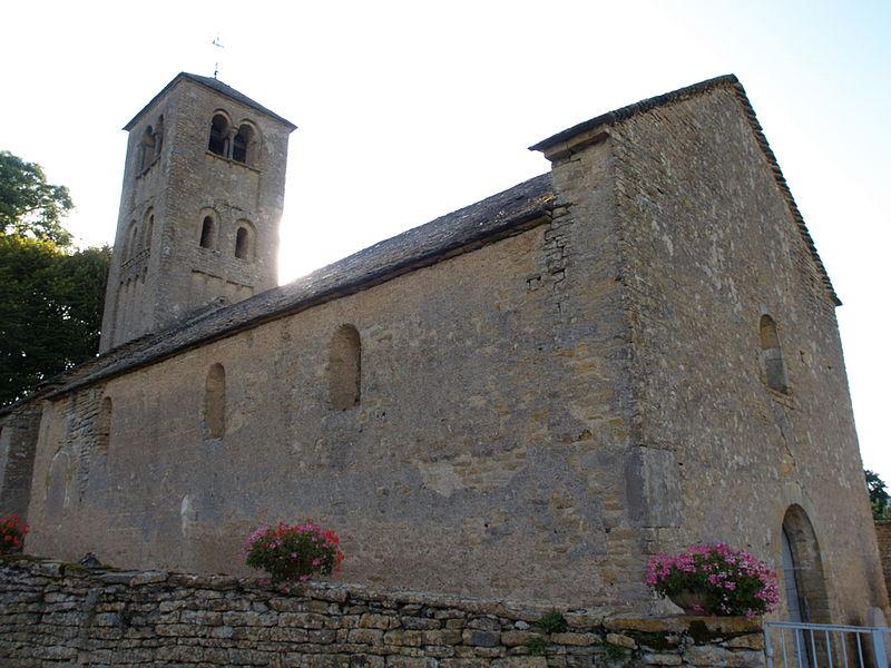 Église romane Saint-Denis (XIe siècle). Massy, Saône-et-Loire, Bourgogne (France).