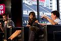 Matt Smith, Jenna Coleman & Steven Moffat (9468387786).jpg