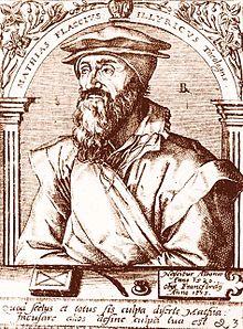 Matthias Flacius Illyricus, Kupferstich von Theodor de Bry (Werkstatt und Nachfolge), vor 1654[85] (Quelle: Wikimedia)