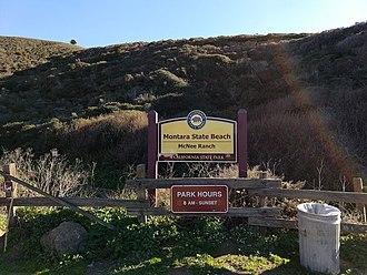 Montara State Beach - McNee Ranch trailhead at Gray Whale Cove, Montara State Beach