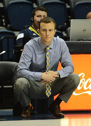 Matt McCall (basketball) - Image: Mccall coaching
