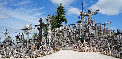 Meškuičių seniūnija Hill of Crosses, Lithuania.JPG