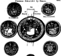 Medals, coins, great-seals, impressions, from the elaborate works of Thomas Simon, chief Engraver of the Mint Fleuron T138030-15.png