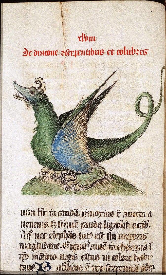 Meddragon Liber Floridus Lambert of sint Omaars 1460
