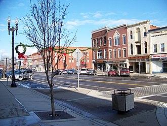 Medina, New York - Main and Center Street junction