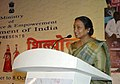 "Meira Kumar addressing at the presentation of the prizes to selected artisans for best Sale and Display in Crafts Exhibition ""Shilpotsav"", at Dilli Haat in New Delhi on October 8, 2007.jpg"