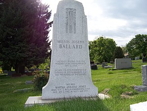 Melvin J. Ballard - Image: Melvin J Ballard Grave East