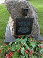 Memorial monument in honour of Norwegian volunteers, Hietaniemi Cemetery, Helsinki, Finland.jpg