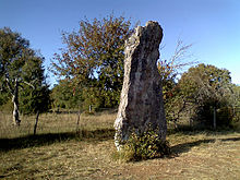Photo du menhir de Bélinac