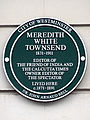Meredith White Townsend 1831-1911 Editor of The Friend of India and the Calcutta Times Owner editor of The Spectator Lived Here c1871-1891.jpg