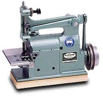 Blanket stitch - A merrow industrial crochet machine