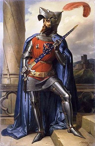 James I, Count of La Marche - A 19th century portrait of James I, Count of La Marche, holding the sword of the Constable