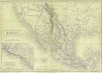 Alta California - Mexico in 1838. From Britannica 7th edition