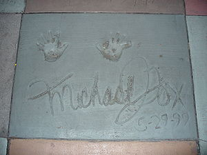 Michael J. Fox - Hand prints of Fox in front of The Great Movie Ride at Disney's Hollywood Studios theme park