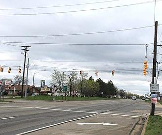 Inkster, Michigan - Michigan Avenue at Beech Daly Road, facing west