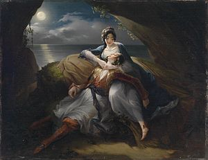 Mihael Stroj - Angelica and Medoro (1833), a scene from the epic Orlando Furioso