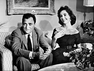 Around the World in 80 Days (1956 film) - Image: Mike Todd Elizabeth Taylor Around the World in 80 Days first anniversary special 1957